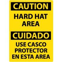 Caution Hard Hat Area Spanish Sign (#ESC31)