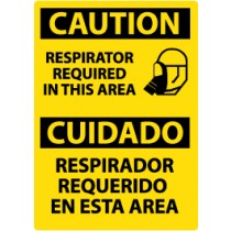 Caution Respirator Required In This Area Spanish Sign (#ESC365)
