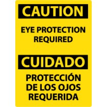 Caution Eye Protection Required Spanish Sign (#ESC485)