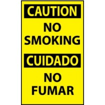 Caution No Smoking Spanish Machine Label (#ESC49AP)
