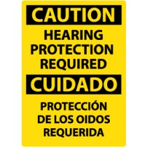 Caution Hearing Protection Required Spanish Sign (#ESC513)