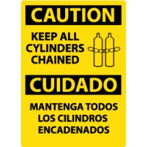 Caution Keep All Cylinders Chained Spanish Sign (#ESC530)
