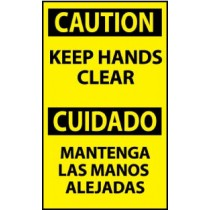 Caution Keep Hands Clear Spanish Machine Label (#ESC536AP)