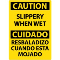Caution Slippery When Wet Spanish Sign (#ESC57)