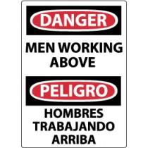 Danger Men Working Above Spanish Sign (#ESD125)