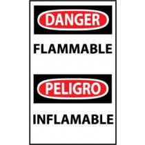 Danger Flammable Spanish Machine Label (#ESD126AP)