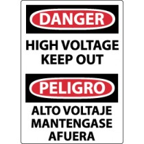 Danger High Voltage Keep Out Spanish Sign (#ESD139)