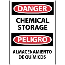 Danger Chemical Storage Spanish Sign (#ESD239)