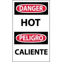 Danger Hot Spanish Machine Label (#ESD265AP)