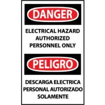 Danger Electrical Hazard Authorized Personnel Only Spanish Machine Label (#ESD268AP)