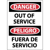 Danger Out Of Service Spanish Sign (#ESD365)