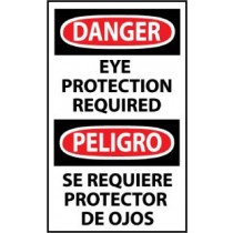 Danger Eye Protection Required Spanish Machine Label (#ESD375AP)