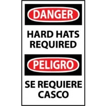 Danger Hard Hats Required Spanish Machine Label (#ESD379AP)