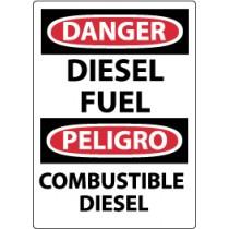 Danger Diesel Fuel Spanish Sign (#ESD427)
