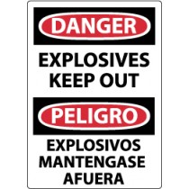 Danger Explosives Keep Out Spanish Sign (#ESD436)