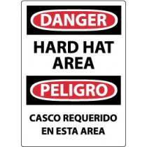 Danger Hard Hat Area Spanish Sign (#ESD46)