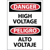 Danger High Voltage Spanish Machine Label (#ESD49AP)