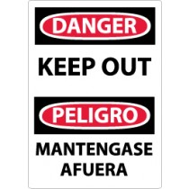 Danger Keep Out Spanish Sign (#ESD59)