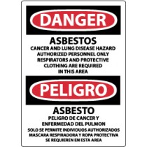 Danger Asbestos… Spanish Sign (#ESD95)
