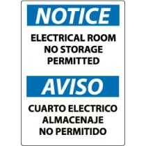 Notice Electrical Room No Storage Permitted Spanish Sign (#ESN368)