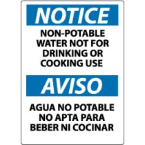 Notice Non-Potable Water Not For Drinking Or Cooking Use Spanish Sign (#ESN50)