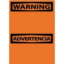 Warning (Blank) Spanish Machine Label (#ESW1AP)