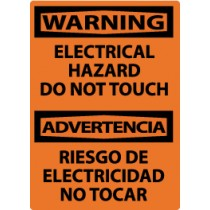 Warning Electrical Hazard Do Not Touch Spanish Machine Label (#ESW500AP)