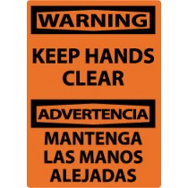 Warning Keep Hands Clear Spanish Sign (#ESW501)
