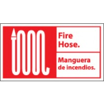 Fire Hose Spanish Sign (#FBA1)