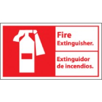 Fire Extinguisher Spanish Sign (#FBA3)