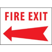 Fire Exit Sign (arrow left) (#FELA)