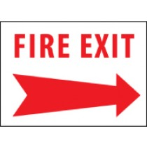 Fire Exit Sign (arrow right) (#FERA)