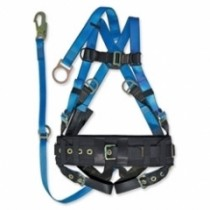 Derrick Harness with Extended D-Ring - Polyester (#FFF4L/WP)