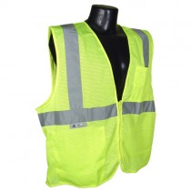 Economy Type R Class 2 Mesh Safety Vest w/Zipper, green (#SV2ZGM)