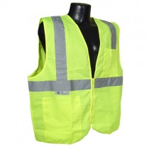 Economy Type R Class 2 Solid Safety Vest w/Zipper, green (#SV2ZGS)