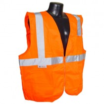 Economy Type R Class 2 Solid Safety Vest w/Zipper, orange (#SV2ZOS)