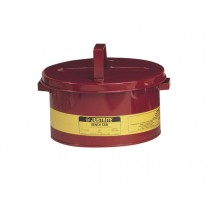 Justrite Bench Can For Solvents, Steel, 3 Gallon, Red (#10775)