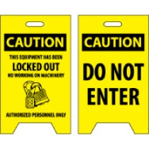 Caution This Equipment Has Been Locked Out…/Caution Do Not Enter Double-Sided Floor Sign (#FS13)