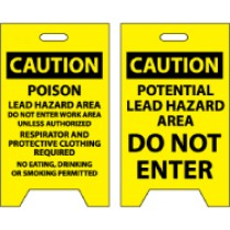 Caution Poison Lead Hazard…/Caution Potential Lead Hazard Area Do Not Enter Double-Sided Floor Sign (#FS19)