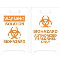 Warning Biohazard Double-Sided Floor Sign (#FS37)