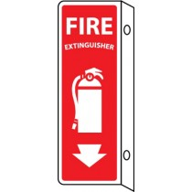 Fire Extinguisher 2-Vue Sign (#FX124R)