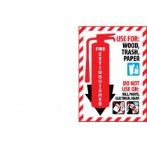 Fire Extinguisher Class Marker (#FXPMA)