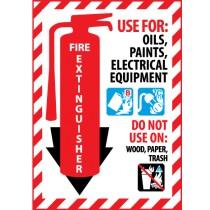 Fire Extinguisher Class Marker (#FXPMBC)