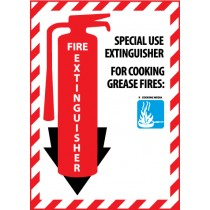 Fire Extinguisher Class Marker (#FXPMSK)
