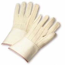 Nap-In Quilted Cotton Blend Double-Palm Gloves (#G81SNI)