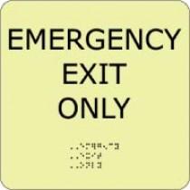 Emergency Exit Only Glow Office ADA Sign (#GADA100BK)