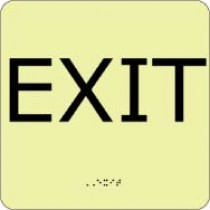 Exit Glow Office ADA Sign (#GADA101BK)
