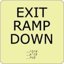 Exit Ramp Down Glow Office ADA Sign (#GADA102BK)