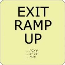 Exit Ramp Up Glow Office ADA Sign (#GADA103BK)