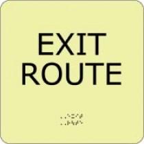 Exit Route Glow Office ADA Sign (#GADA104BK)